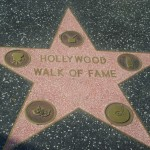"La stella inaugurale della ""Hollywood Walk of Fame"""