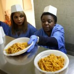 Italian Minister for Integration, Cecile Kyenge, spent her Christmas serving lunch