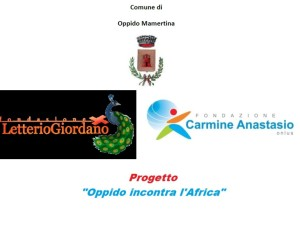 Logo Progetto Oppido incontra l'Africa