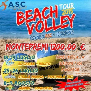 locandina asc beach volley