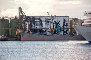 Waterfront Vhils a CT