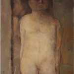 Lillo Messina - INTERNO-NUDO - 1962 - olio su tela cm 70 x 50