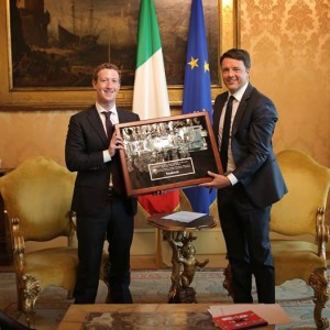 Mark Zuckerberg renzi