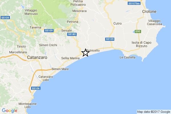 Sisma in Calabria, tre scosse avvertite in quindici minuti