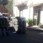 incidente arangea auto ribaltata
