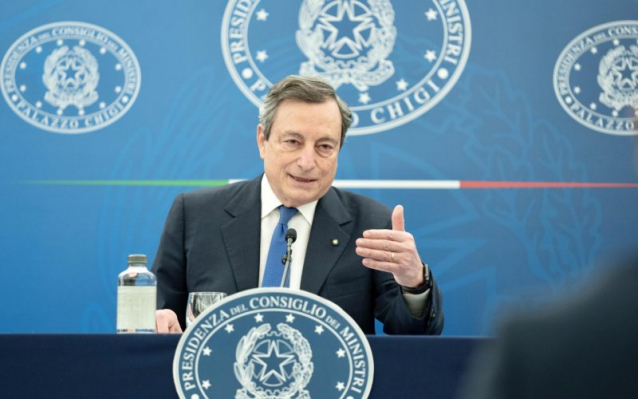 Draghi conferenza stampa